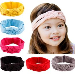 multi color crosses 2018 - baby girl Headbands Bandanas kids toddler infant Knitting cross Knot headband Turban hairband headwear hair jewelry children Christmas gift