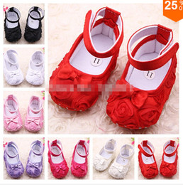 Wholesale Crochet Cute Baby Shoes - New! Fashion Cute Baby Shoes Flower Soft Sole Skid Proof Cute Kids Girl Toddler Shoes First Walkers Fit 0-12 Month Baby..3pairs 6pieces