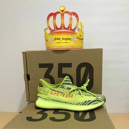 Wholesale Raw Yellow - Semi Frozen Yellow Gum Soles Raw Steel Red B37572 Yellow Zebra Boost 350 V2 Beluga 2.0 Grey Bold Orange AH2203 Shoes