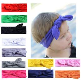 Wholesale Twist Knot Headwrap - New Arrival Infant Headwrap Twisted Knot Soft Hair Band Cloth Rabbit Ear Elastic Headband Hot Sale 1 18ml B