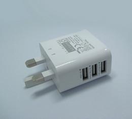 Carregadores portáteis on-line-Portátil uk plugue parede usb carregador de energia universal 5v3a adaptador de corrente alternada para iphone samsung htc lg uk adaptador de carga frete grátis 200 pcs up