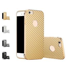 Wholesale Carbon Fiber Aluminum Case - S5Q Shockproof Luxury Aluminum Bumper Carbon Fiber Case Cover For iPhone 5s AAAFQY