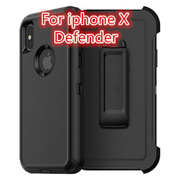 Wholesale Armband Iphone Proof - Armor 3 in 1 Defender Case for iphoneX 7 7plus Soft TPU Sdust-proof Hockproof Drop Case For iphoneX Free Shipping DHL