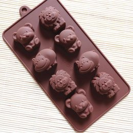 Wholesale Bear Cake Molds - Free shipping Silicone Lion,Cow&Bear Chocolate Molds Jelly Ice Molds Candy Cake Mould Bakeware free shipping TY94