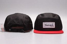 Wholesale Diamond Snap Back Hats - Hot sale strapback 5 panel Hats Snapback black red Caps Men 2016 Snapbacks Adjustable Diamond supply co Snap back caps Top Quality YP