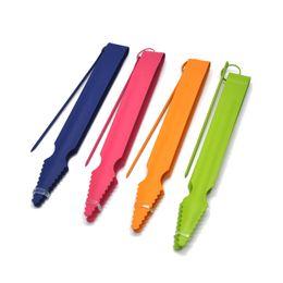 Wholesale color charcoal - 175mm Color Metal Long Shisha Hookah Charcoal Tongs Color Random