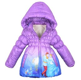 Wholesale Boys Girls Winter Cashmere Coat - New High quality Retail Boys Girls children's Winter Cinderella Coat down jacket Baby kids ippingJackets outerwear thickening coats free sh