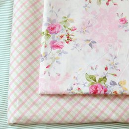 Wholesale Textile Materials - New 160cm*1yard pink peony patchwork fabric cotton tissue to sew cloth textile tilda sewing material fat quarters