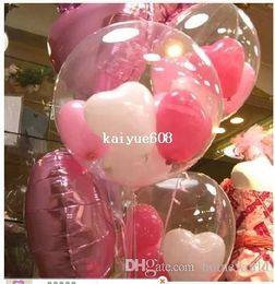 2019 111 воздушных шаров Большой шар (5pcs18inch прозрачный + 15 шт 5 дюймов сердце)=1 лот diy прозрачный шар свадьба дети день рождения украшения воздушные шары