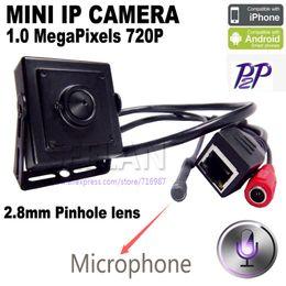 Wholesale Phone Surveillance - mini ip camera ip mini 1.0MP ONVIF HD H.264 P2P Mobile Phone Surveillance CCTV IP Camera 2.8mm Pinhole lens hideen