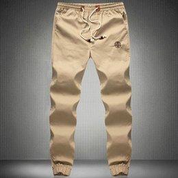 Wholesale Cheap Army Pants - Wholesale-2015 Cheap Navy High quality Men joggers pants sports casual trousers Army green Khaki Men Pants plus size 5XL