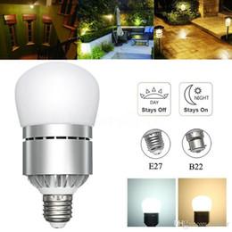 Wholesale Motion Sensor Led 12w - E26 E27 Motion Sensor Light Dusk to Dawn LED Lights Bulb 12W Automatic on off Sensor Light Indoor Outdoor Security Bulb 85-265V