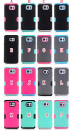 Wholesale Iphone 5c Silicone - Hybrid Armor Robot 3 in 1 hard PC + silicone case Ballistic For iphone 6S 6 plus 5.5 4.7 5 5C Samsung Galaxy Note 5 S6 EDGE PLUS Skin Luxury