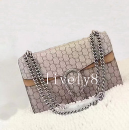 Wholesale newest fashion handbags - Newest style women 28cm brand ladies casual fashion trend simple square cross section cover printing Floral Shoulder Bags handbags chain bag
