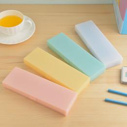 Grande trousse à crayons étudiant papeterie couleur bonbon cas mat dessin animé PP boîte en plastique ? partir de fabricateur