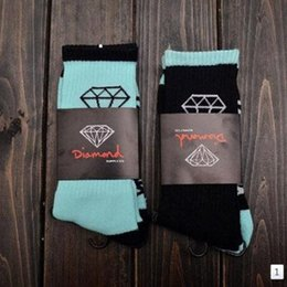 Wholesale Diamond Huf - Cotton Black blue Coolmax Diamond Socks High Quality Men High Socks Happy Coolmax Socks