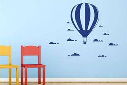 Wholesale Hot Air Balloon Nursery Decals - Hot Air Balloon In The Clouds Wall Stickers Decals for Kids room Decor