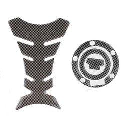 Wholesale R1 Stickers - New Carbon-Look Fuel Tank Decal Pad + Gas Cap Pad Cover Sticker Case For Yamaha R6 R1 FZ-1 FJR1300