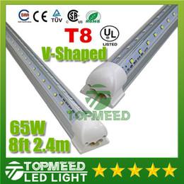 best shaped led - V-Shaped T8 Led Tube Lights 4FT 28W 5FT 34W 6FT 42W 8FT 65W 2.4m Integrated Cooler Door Led Fluorescent Double Glow lighting