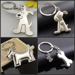 Wholesale Funny Plates - 20pcs Creative Fashion Dog and its Bones Car Keychain Key Chain Ring Keyring Keyfob For Men and Women Funny Gift