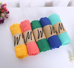 Wholesale Hijab Cotton Shawl - 2018 New arrival Women Cotton Linen Solid Scarf Winter Autumn Shawls Female Soft Wraps Hijab Scarves Pure Color 180*60 cm All Match Scarf