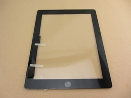 Wholesale Ipad Glass Home - For iPad 4 digitizer assembly replacement touch screen glass panel home button flex camera holder adhesive