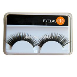 natural false eyelash brand Promo Codes - Wholesale-High Quality 10Pairs Long Natural Eye LashesFake False Eyelashes Brand Makeup handmade Thick Eyelash Extension Free shipping
