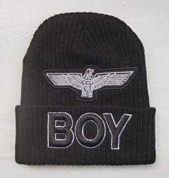 Wholesale London Caps - Boy London Beanie Hat Eagle Logo Winter Skull Beanies Cap Fashion Embroidery Knitted Hats For Men Women Punk Knit Caps