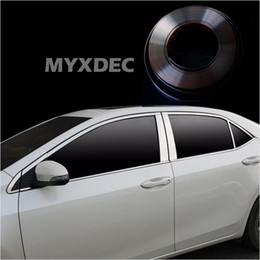 Wholesale Vinyl Car Silver - styling MYXDEC 6mm-30mm Car Chrome Decor Strip Sticker Silver Styling Moulding Trim Strip Auto Body Window Exterior Decoration