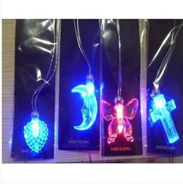 Wholesale Electronic Party - 50pcs lot 2015 electronic toys flash necklace,light up glow new electronic party decoration led necklace light up party favors