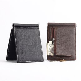 Wholesale First Slot - Wholesale- Genuine Leather Men Wallets Business Men Purses Brand Designer First Layer Cowhide Male carteira masculina--BID066 PM49