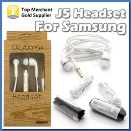 Wholesale Note Mic - OEM Galaxy S4 S5 S6 S7 Note 5 Premium WHT MIC Headphone Earphone Headset with Volume Control retail package