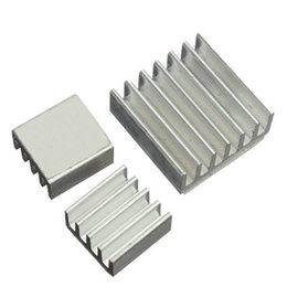 Wholesale Raspberry Cooler - Wholesale- 3Pcs CPU GPU VGA RAM IC Heat Sink Aluminum Heatsink Chip for Voltage Regulator Cooling Radiator Cooler Kit for Raspberry