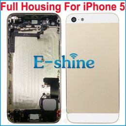 Wholesale Iphone5 Housing Assembly - For iPhone 5 Replacement Full Back Housing Assembly Metal Battery Door with Middle Frame and Repair Parts For iPhone5 5th