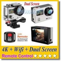 "Wholesale Camera Remote Control Wholesale - EKEN H3R 4K Action Camera (2""screen + Status Screen) + Remote Control + Wifi 1080P 60FPS 12MP 30M waterproof Sport DV Cam"