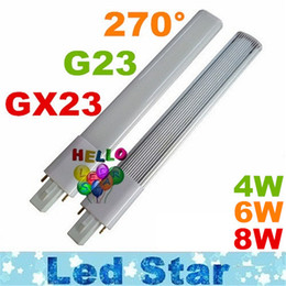 Wholesale G23 Led Bulb Light - G23 GX23 Led PL Light Super Bright 4W 6W 8W Led Bulbs 270 Angle Replac CFL Lights AC 85-265V