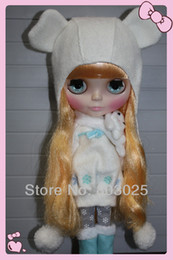 Wholesale Bjd Tangkou Doll - Free Shipping 1 6 White Snowsuit For Blythe   Tangkou Doll , Full Set Of BJD SD Winter Clothes For Children