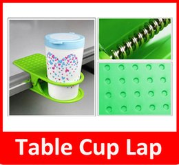 Wholesale Desk Drinking Coffee - Creative Drink Cup Coffee Mug Desk Lap Folder Table Holder Clip Home Office Table Cup Lap