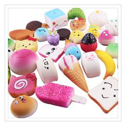 Wholesale Rilakkuma Squishies - High Quality Squishy Phone Straps Kawaii Rilakkuma Donut Cute Phone Straps Bag Charms Slow Rising Squishies Jumbo Buns Charms Free Shipping
