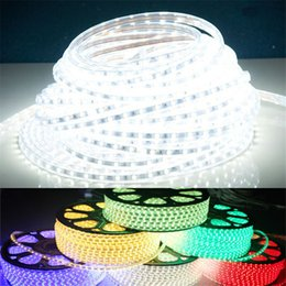 Wholesale Warm White Rope Lights - Waterproof Flexible Led Strips 220V 110V SMD 3528 60LED M 5M 16.4 Feet Led Strip Light Rope Christmas Decoration Holiday Party Light
