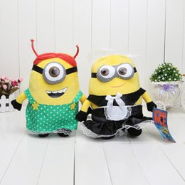 Wholesale Despicable 25 - Despicable me 60pcs 25 cm 10 inch 2 cute 3D soya beans With the maid high quality wholesale 1206#06