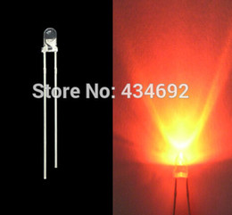 led super bright 3mm with best reviews - 11000mcd 3mm LED orange Super Bright Round water clear led diodes round LED Light Emitting Diode lamps