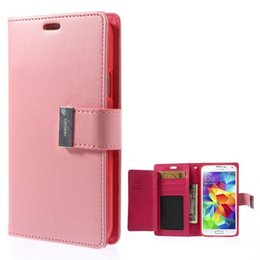 Wholesale Leather Covers For Diaries - Rich Diary Wallet PU Flip Leather Case TPU Cover With Card Slots For iPhone 5 6 7 8 Plus X Samsung Galaxy S5 S6 Edge Note 4 Sony Z3 HTC M9