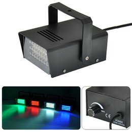 Wholesale Strobe 24 - 10 unit Mini 24 LED Strobe Light Stage DJ Flash Light Club led Lighting Party Disco Bulb 110V 220V 3W 24pcs*10mm Mini Strobe Light 5 Colors