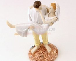 Wholesale Wedding Cake Toppers For Cheap - Wholesale-Just Married Beach Couple Figurine cheap cake toppers decorations for wedding Free Shipping F-0022