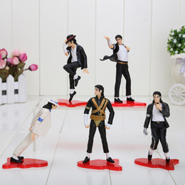 "Wholesale Doll Sets - NEW 4"" (11cm) MICHAEL JACKSON FIGURES dolls SET OF 5 POSE figures (5pieces lot)"