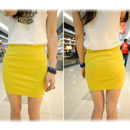 Wholesale Summer Skirts For Ladies - Fashion Women Ladies Sexy Summer Package Hip Pencil Skirt Seamless Elastic Pleated High Waist Slim Mini Skirts For Office Party