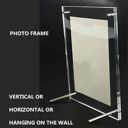 Wholesale Plexiglass Can - 8 inches 240x190mm acrylic plexiglass photo frame european creative Have many different size inventory and can customize any size