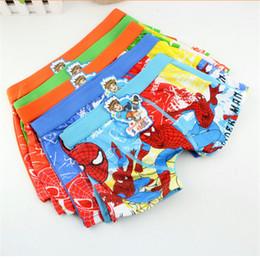 Wholesale Panties For Kids - Spiderman Underwear Boxers Boys Cartoon Characters Cotton Briefs Underpants Kids Clothes Clothing Underpant Underwears Panties for Boys