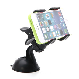 Wholesale Iphone Gps Holder Car - Ship from USA! Universal Car Windshield Mount Holder Bracket With 360 swivel head For iPhone Samsung Phones GPS PSP iPod MP3 MP4 Player